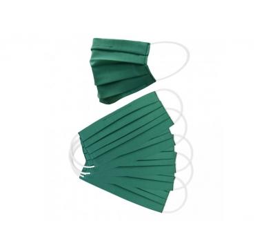 5 ks - Balení dvouvrstvých ochranných roušek - zelené