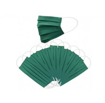 10 ks - Balení dvouvrstvých ochranných roušek - zelené